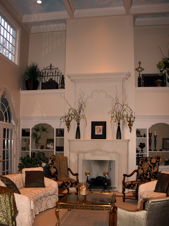 Two Story Stone Fireplace_2