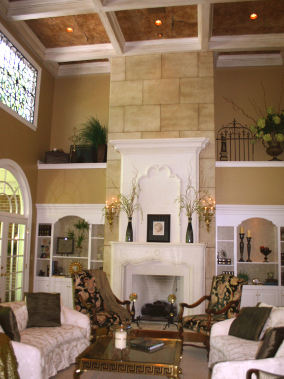 Two Story Stone Fireplace_3
