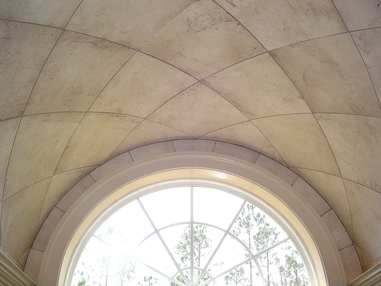 faux stone curved ceiling