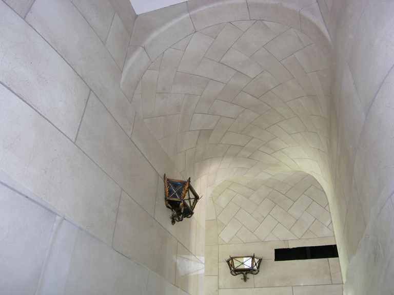 Stone Herringbone Ceiling and walls_1