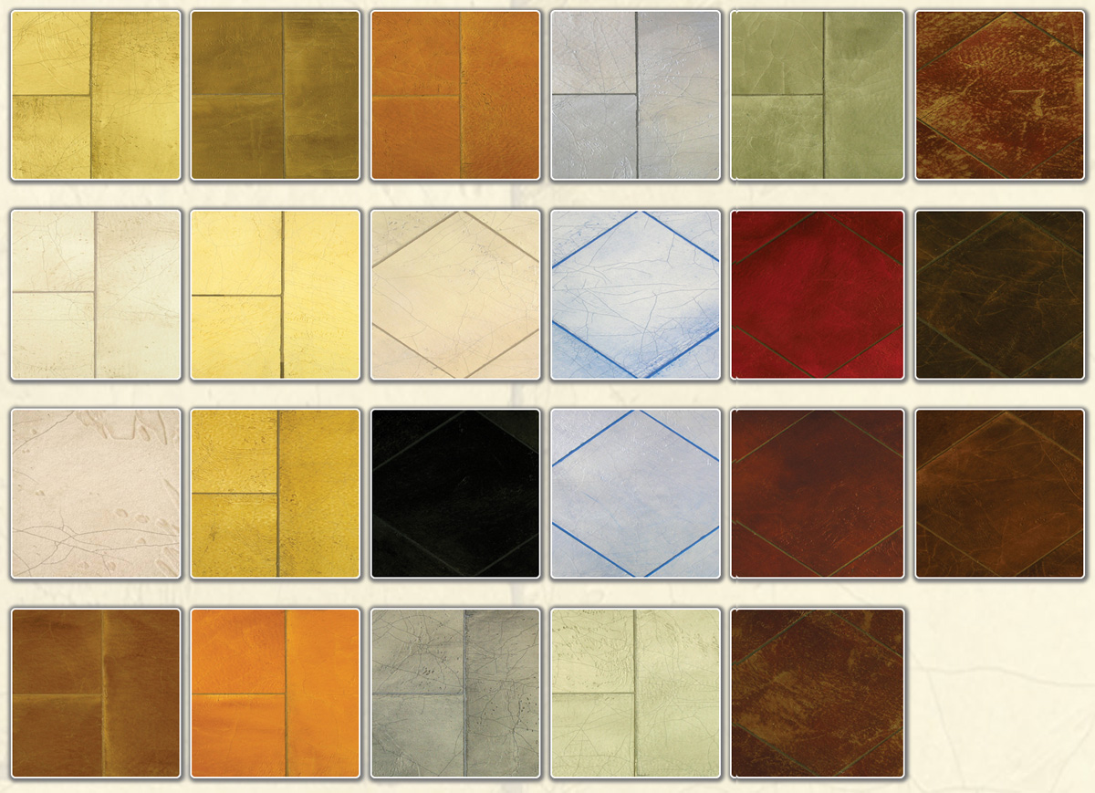 Faux Stone And Leather Color Selection