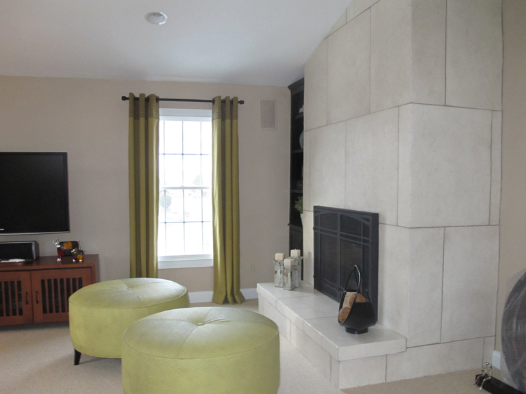 Contemporary Faux Stone Fireplace_1