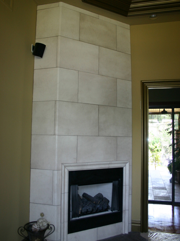Faux Stone Fireplace and Molding_1