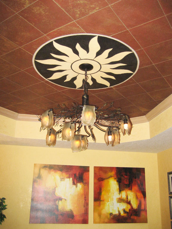 Custom Stone Ceiling Medallion_1