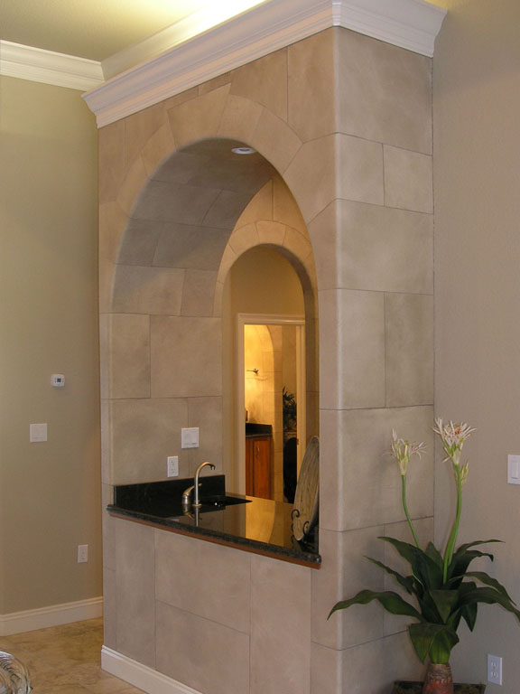 Stone Archway Wet Bar_1
